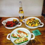 Botanas for the world cup!! Calabacitas with queso vegano or cotija, and MORE!