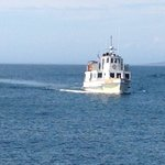 Mail boat arriving at Monhegan Island