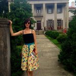 Me in front of the Belle Meade mansion