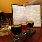 A flight of some of their very best home brews