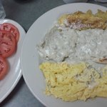 One of my favorite  breakfast dishes, biscuits & gravy