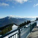 Вид на горные вершины Альп