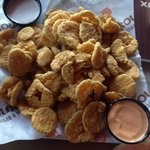 Fried Dill Pickles with Ranch and Comeback Sauce