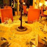 Fine dining set up