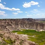 the badlands, sheep hills