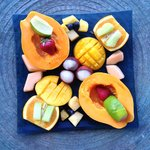 Amazing fresh tropical fruit platter