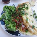 Fresh and tasty omelette