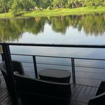 View of River Kwai from hotel grounds