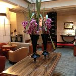 Homey lobby