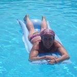Me,loving the pool!