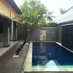 Our private pool - ready to jump