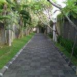The villa corridor