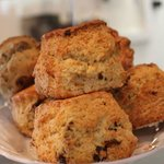 Homemade fruit scone - perfect served warm with plenty of butter!