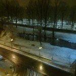 Burgos nevado desde hotel noche