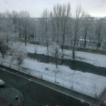Burgos nevado desde hotel día