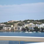 view over balcony to santa ponsa