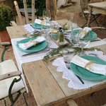 Stylish lunch and dinner settings with lovely details