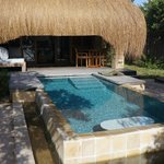 Private deck and pool.