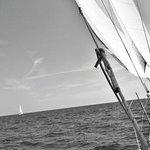 En un velero a 3 nudos de velocidad sólo se escucha el ruido del agua cortada por el casco desli