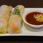 Rice paper Rolls with Prawn