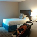Our room, 303. Note that there are two shades.  On is see thru and simply diffused l i gh t. The