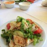 Chicken salad in the hotel restaurant