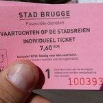 Biglietto per giro canali di Bruges