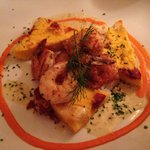 Dinner Special: shrimp w/ stuffed polenta