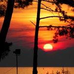 Sonnenuntergang vom Zimmer aus zu sehen
