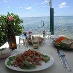 scenic seaside lunch
