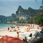 Railay beach from pool