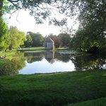Fishing lake at Chateau de Lez-Eaux