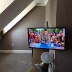 TV in dangerous position