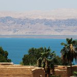View from the main entry complex balcony to Dead Sea below