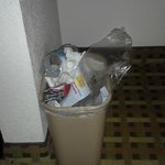 Trash cans not emptied over night