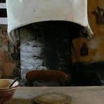 The Moirlanich Longhouse fire place