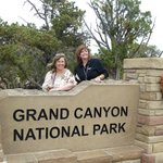 Grand Canyon with air hostess
