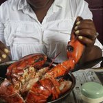 Look at the size of that lobster in my wife's hand....nu said!