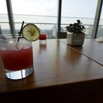 Our Singapore Sling in the Club Lounge