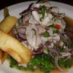 ceviche with lemon-sauce