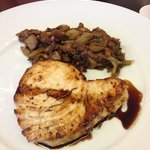 Swordfish and eggplant 'compote'