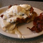 Lenny's Chicken and Waffle Benedict
