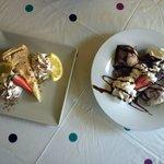 Lemon pe and chocolate cake