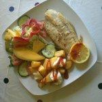 Pan fried fillet of fish