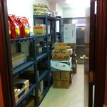 Storage Room right next to our room; activity began here at about 5:15am to start preparation fo