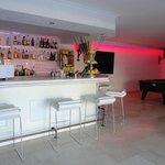 trendy bar area