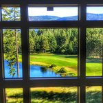 View of Prospector hole #9 from inside the Inn