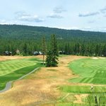 View from the Rope Rider clubhouse - holes #1 and #9
