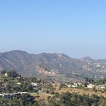 Hollywood sign in the distance at Runyon canyon