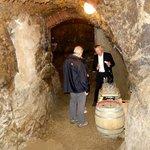 Wine cellar at the wine tasting.